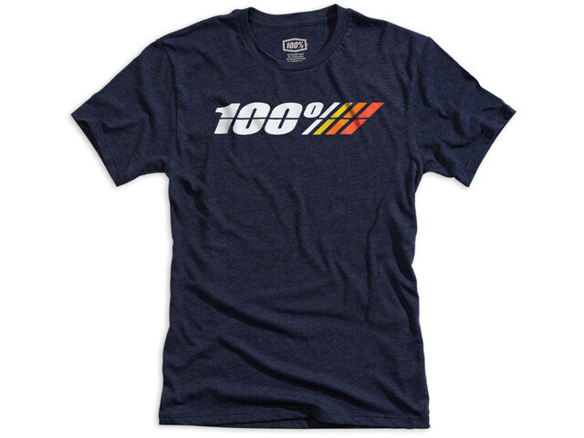 100% Motorcycle Tech T-shirt Heren, navy heather
